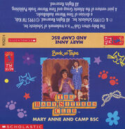 Baby-sitters Club 86 Mary Anne and Camp BSC audio tape J-card front