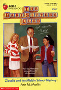 BSC 40 Claudia and the Middle School Mystery original cover