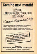 Super Special 3 Winter Vacation bookad from 29 orig 1stpr 1989