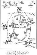Pine Island Maine map Stacey age 10 SB