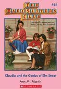 BSC 49 Claudia Genius of Elm Street ebook cover