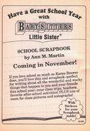 Little Sister School Scrapbook bookad from BLS 42 1stpr 1993