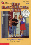 Baby-sitters Club 38 Kristys Mystery Admirer original cover