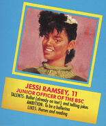 Jessi 1991 portrait and bio from Remco doll box