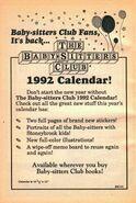 BSC 1992 calendar bookad from mystery 2 1stpr 1991