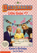 Baby-sitters Little Sister 07 cover 1st printing with card