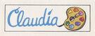 Claudia sticker from 1992 calendar