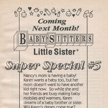 Super Special 5 Karens Baby bookad from BLS 33 1stpr 1992.jpg