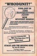 Mystery 1 Stacey Missing Ring bookad from 45 6thpr 1991