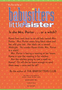 Baby-sitters Little Sister 01 Karens Witch 2001 reprint back cover