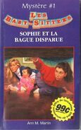 BSC Mystery 01 Sophie et la bague disparue french canadian cover