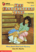 Baby-sitters Club 17 Mary Anne's Bad Luck Mystery original cover