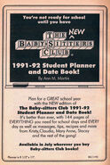 1991-2 student planner date book bookad from 45 6thpr 1991
