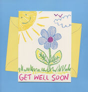 Chain Letter card 1 Karen to Kristy front