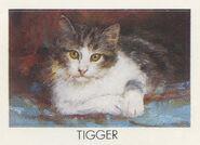 Tigger from 1990 calendar stickers
