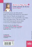 Le Club des Baby-Sitters 01. L'idée géniale de Kristy -- French back cover by Karim Friha