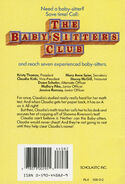 Baby-sitters Club 40 Claudia Middle School Mystery original back cover