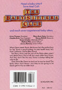 Baby-sitters Club 37 Dawn and the Older Boy original back cover