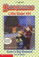 Baby-sitters Little Sister 44 Karens Big Weekend cover 1stprint