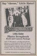 Little Sister Photo Scrapbook bookad from BLS 74 1stpr 1996
