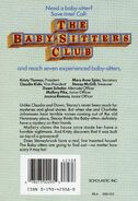 Baby-sitters Club 35 Stacey Mystery of Stoneybrook original back cover