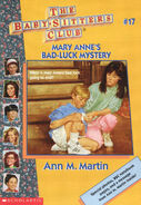 Baby-sitters Club 17 Mary Anne's Bad Luck Mystery reprint cover