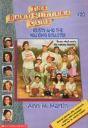 Baby-sitters Club 20 Kristy and the Walking Disaster 1996 cover