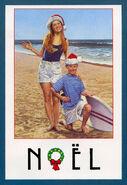 Secret Santa Dawn Jeff postcard front