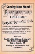 Super Special 4 Karen Hannie and Nancy bookad from BLS 30 2ndpr 1992