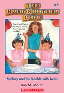 BSC 21 Mallory Trouble with Twins ebook cover