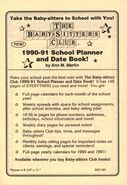 BSC student planner date book bookad from 36 orig 1990