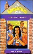 Keep Out, Claudia! UK cover