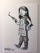 Claudia raina telgemeier original drawing
