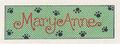 Mary Anne sticker from 1992 calendar