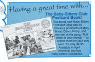 BSC postcard book ad from Fan Club Newsletter 40-43 1991