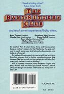 Baby-sitters Club 34 Mary Anne and Too Many Boys original back cover