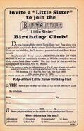 Little Sister Birthday Club bookad from 43 orig 1stpr 1991