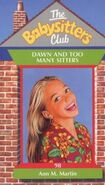 Baby-sitters Club 98 Dawn and Too Many Sitters UK cover