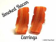 Smoked Bacon Earrings