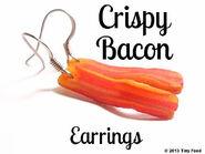 Crispy Bacon Earrings