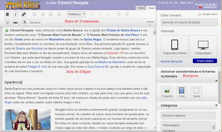 Modo Editor Clássico: Visual