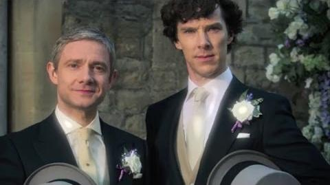 Sherlock's wedding video - Sherlock- Series 3 - BBC One