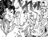 Baki breaks his arm cast