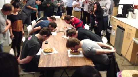 Pi day pie eating contest at Wikia