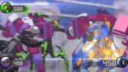 Mantonoid, Skorporos and Trunkanious fight too
