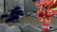Dragonoid Maximus facing Hydranoid