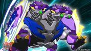 Howlkor X Aquos attack with his Baku-Gear