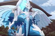 Sairus using her Baku-Gear's power