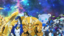 The rest of the Bakugan partners facing Haavik.png