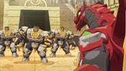 Drago faces three Auratoa